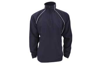 Finden & Hales Adults Unisex Team 1/4 Zip Sports Overtop (Navy/White) (2XL)