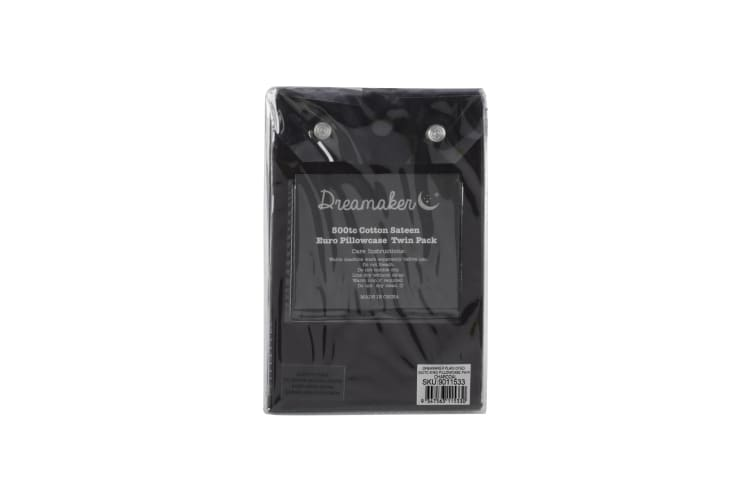 500 TC Cotton Sateen King Pillowcase Twin Pack - Charcoal