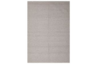 Modern Flatweave Diamond Design Grey Rug