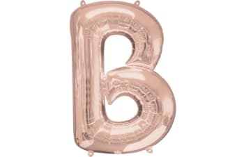 Anagram Mini Shape 16 Inch Rose Gold Number/Letter Balloon (Rose Gold) (Y)
