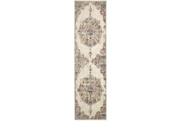 Hazel Bone & Multi Durable Vintage Look Rug 400x300cm