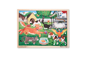Melissa and Doug Pets at Play Jigsaw - 24 Piece