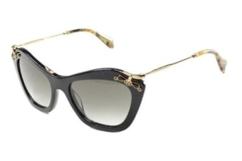 Miu Miu MU03PS - Black Havana (Grey Shaded lens) Womens Sunglasses