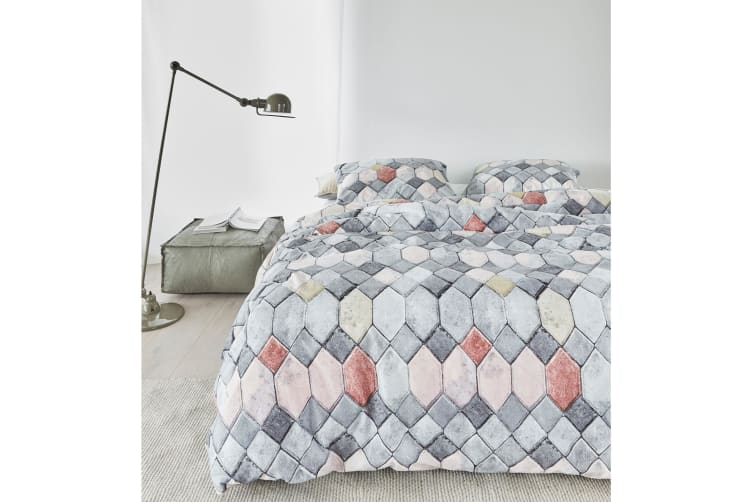 Go Grey Quilt Cover Set Queen