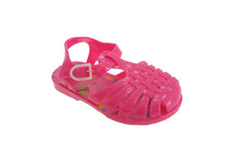 Childrens Girls Closed Design Buckle Fastening Jelly Sandals (Pink) (11 UK Child)