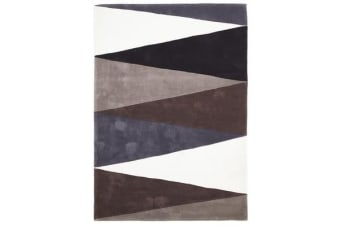 Cascade Modern Rug Brown Grey 165x115cm
