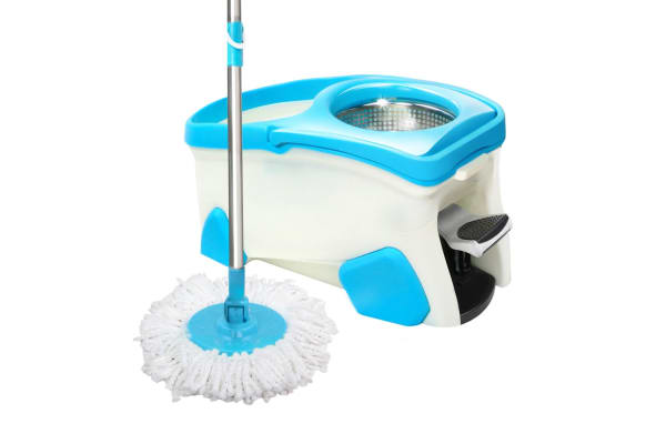 spin mop set with 2 x mop heads