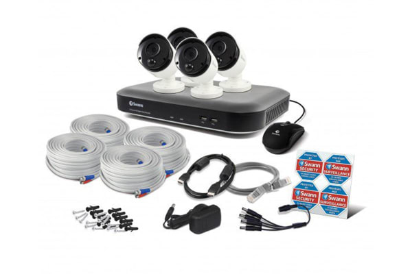 Swann 8 Channel 3MP 2TB HDD with 4 x PRO-3MPMSB Thermal Motion Sensing Bullet Cameras (SWDVK-847804)