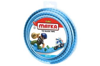 Zuru Mayka Toy Block Tape - 2 Stud Light Blue