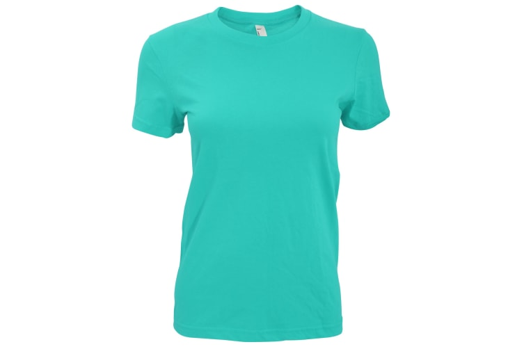 American Apparel Womens/Ladies Plain Short Sleeve T-Shirt (Turquoise) (L)