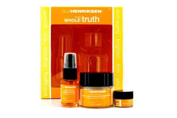 Ole Henriksen The Whole Truth Kit: Truth Creme Advanced Hydration 30ml + Truth Serum Collagen Booster 15ml + Total Truth Eye Creme SPF15 3g (3pcs)