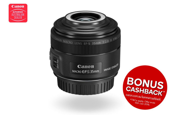 Canon EF-S35MM f/2.8 IS STM Macro Lens with Macro Lite (EFS3528M)