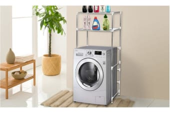 2 Tier Over Laundry Washing Machine Storage Rack