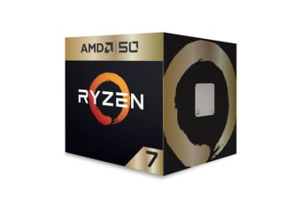 AMD Ryzen 7 2700X, 8 Cores, 16 threads, AM4 CPU, 4.35GHz, 20MB, 105W, Wraith Prism Cooler Fan Box - 50th Anniversary Edition