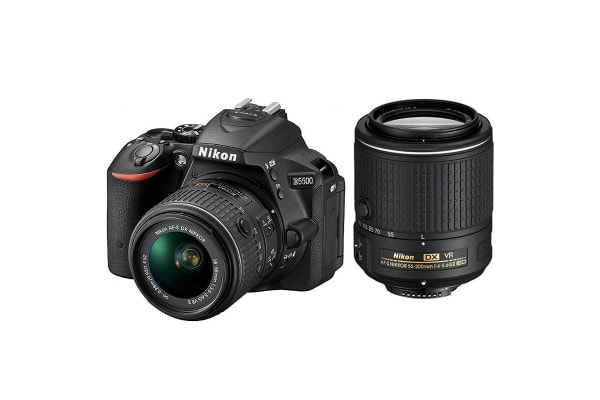 Nikon D5500 DSLR Camera 18-55mm VR II & 55-200mm VR Twin Lens Kit