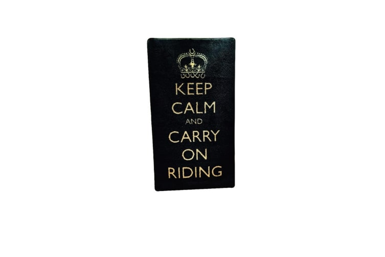 Pet Rebellion Keep Calm & Carry On Riding Equine Rug (Black) (One Size)