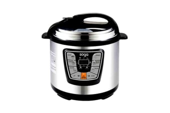 SOGA Electric Pressure Cooker 12L Stainless Steel NonStick 1000W 1 Year Warranty