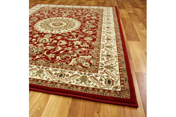 Medallion Rug Red with Ivory Border 230x160cm
