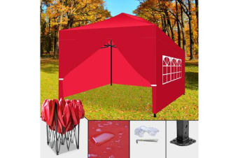 3x4.5m Pop Up Folding Gazebo Marquee RED