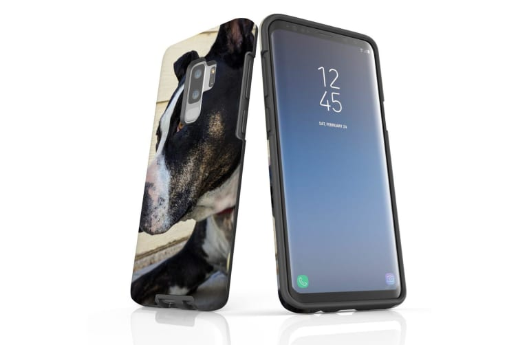 For Samsung Galaxy S9+ Plus Case Armour Cover  Staffy Portrait
