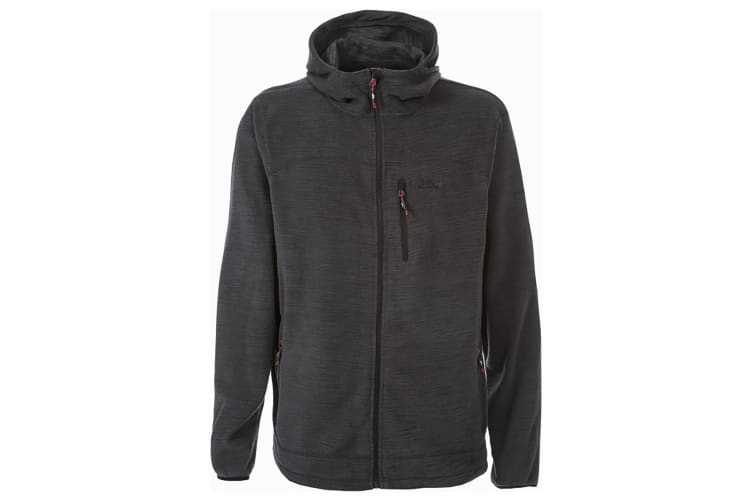 Trespass Mens Barack Full Zip Hooded Fleece Jacket (Black Marl) (XS)