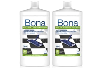 2PK Bona 1L Stone Tile & Laminate Polish Protective Floor Polisher Gloss Finish