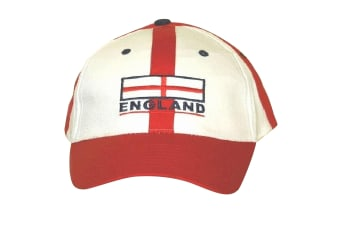 England Baseball Cap Red White With Adjustable Strap (As Shown)
