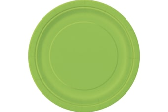 Unique Party Paper Party Plates (Pack Of 16) (Lime Green)