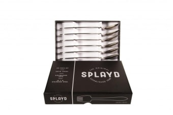 Splayd Black Label Stainless Steel Satin 6pcs Set