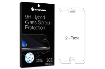 For iPhone 8/7 2-Pack Screen Protector iCoverLover Unbreakable Hybrid 9H Glass