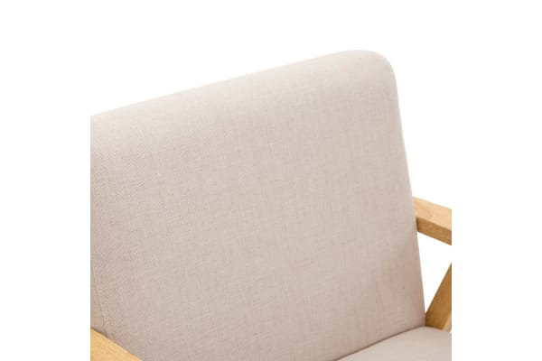 Fabric Dining Armchair (Beige)