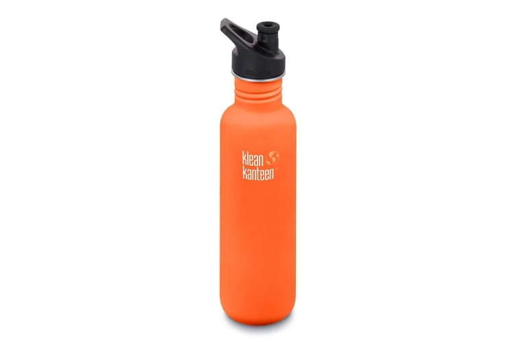 KLEAN KANTEEN 27oz 800ml SIERRA SUNSET ORANGE  BPA FREE WATER BOTTLE