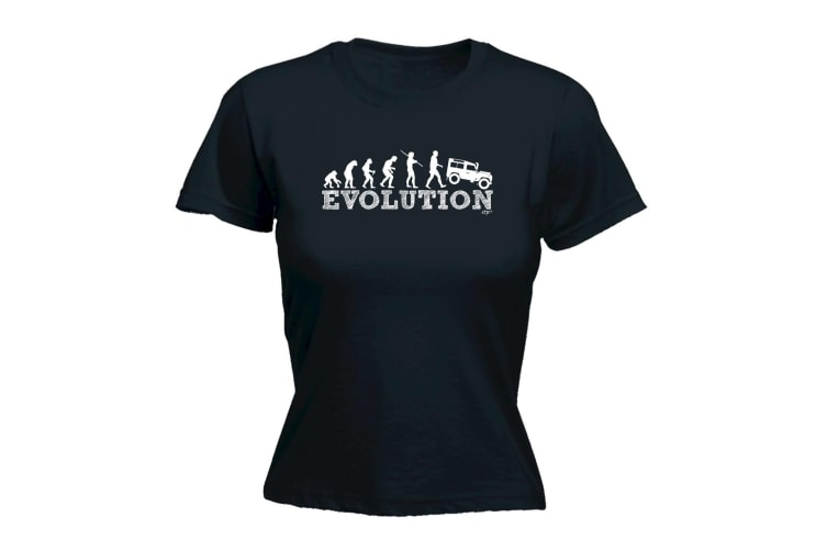 123T Funny Tee - Evo 4X4 - (Large Black Womens T Shirt)