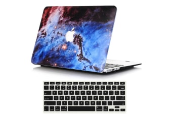 "Marble Frosted Matte Hard Case with Free Keyboard Cover for MacBook Pro 13"" 2016-2018 A1706 A1989 (With Touch Bar)-Nebula"