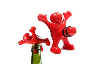 Happy Man Bottle Stopper | He`ll `Happily` Keep Your Bottle Sealed!