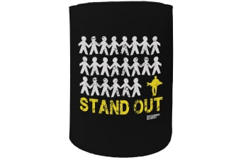 123t Stubby Holder - DW stand out fish FISHING - Funny Novelty