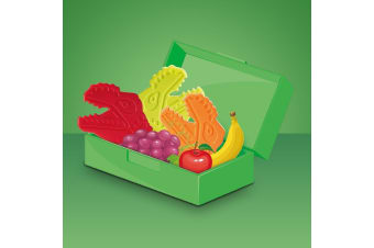 Reusable Dinosaur Ice Packs Set of 4 | Ideal For Lunch Bags & Boxes!