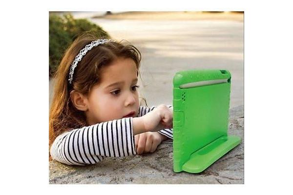 Education Soft handle iPad Air 2 Case Protector For School Kids, (Green)