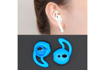 For Apple Airpods Blue Silicone Ear Caps with Precise Opening