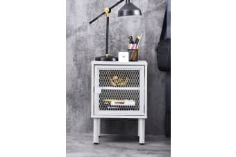 Avice Bedside Table - White