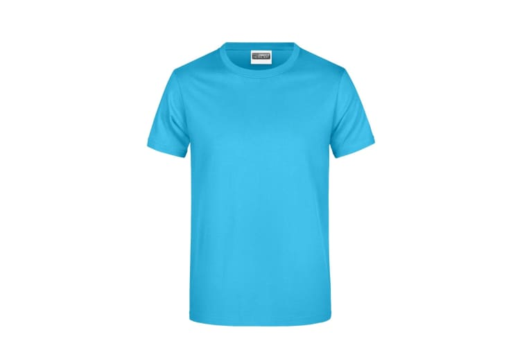 James And Nicholson Mens Basic T-Shirt (Turquoise) (M)