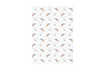 Deckled Edge Gift Wrap (Pack Of 2) (Happy Birthday Unicorns)