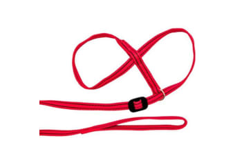 Gencon All-In-One Clip-To-Collar Head Collar (Red) (One Size)