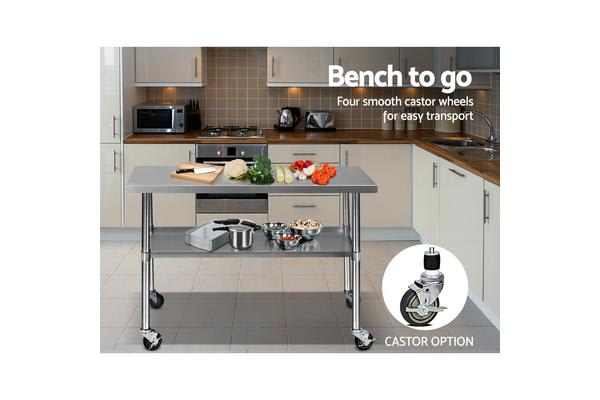 Cefito 1219x610mm Commercial 430 Stainless Steel Bench
