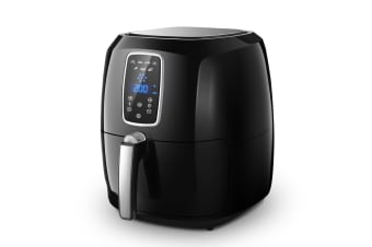 7L New Maxkon OiL-Free Air Fryer Cooker 1800W- Black
