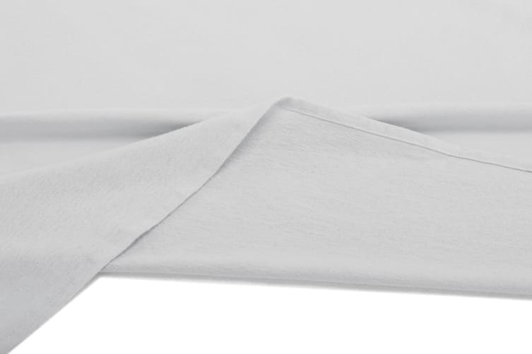 Ovela Flannelette Sheet Set (Single, Light Grey)