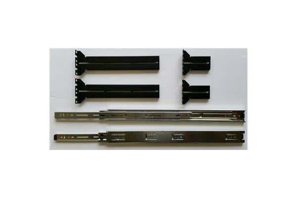 "PROCASE 20"" Ball-bearing slide rails. Used for mounting rackmount chassis onto cabinets."