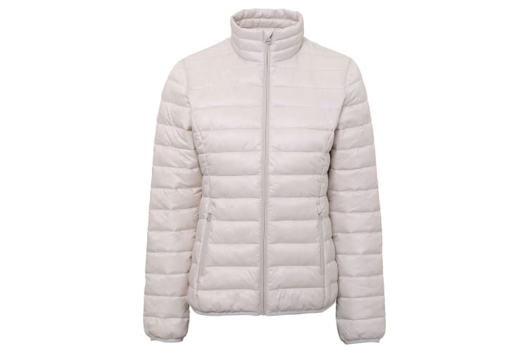 2786 Womens/Ladies Terrain Long Sleeves Padded Jacket (Oyster White) (XL)