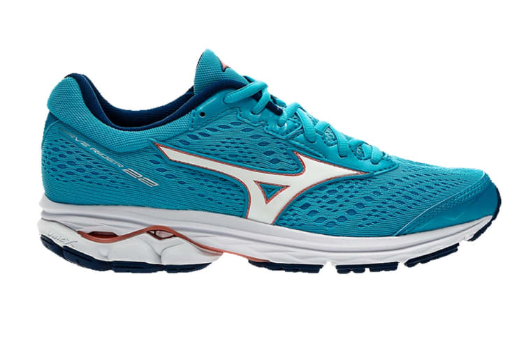 Mizuno Women's WAVE RIDER 22 Running Shoe (Diva Blue, Size 9.5 US)