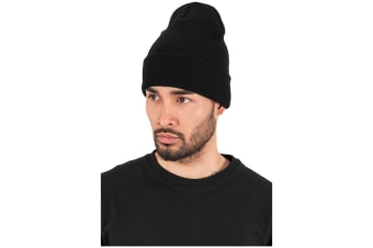 Flexfit Unisex Long Knit Beanie (Black)